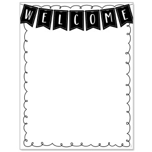 Black & White Welcome Poster
