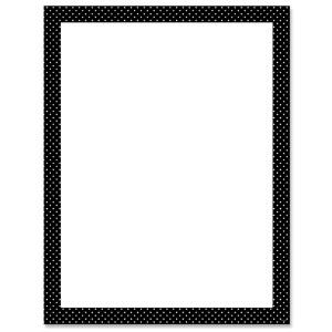 Black & White Blank Poster