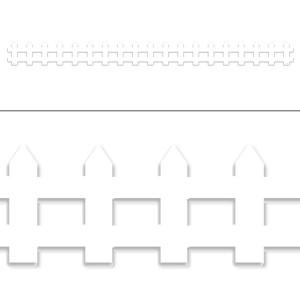 White Picket Fence Border