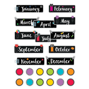 Bold & Bright Months of the Year Mini Bulletin Bd