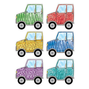 "Safari Friends Off-Road Vehicles 6"" Cut-Outs"