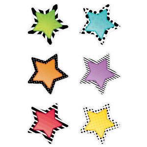 "Bold & Bright Stars 6"" Cut-Outs"