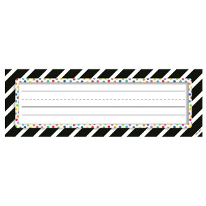 Bold & Bright Stripes & Dots Nameplates