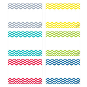 Chevron Solids Nametags