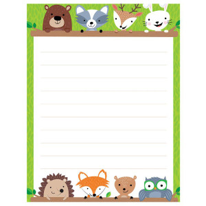 Woodland Friends Blank Lined Poster
