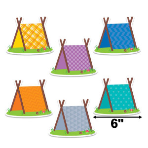 """Woodland Friends Pup Tents 6"""" Cut-Outs"""
