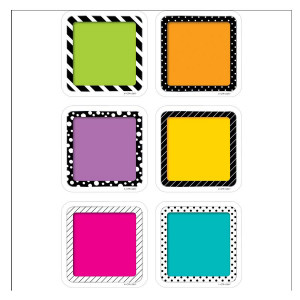 "Bold & Bright Colorful Cards 3"" Cut-Outs"