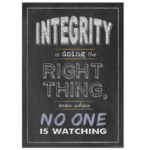Integrity - Doing the Right Thing Inspire U Poster