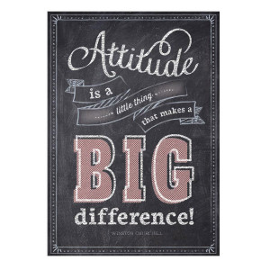 Attitude is a Little Thing Inspire U Poster