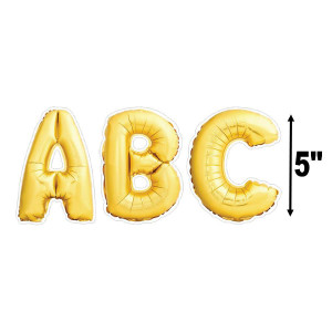 "Gold Mylar Balloons 5"" Uppercase Letters"