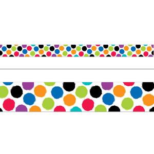 Colorful Spots Border