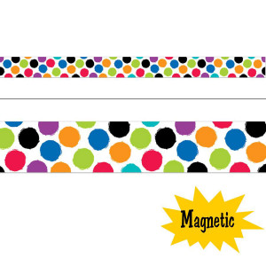 Bold & Bright Colorful Spots Magnetic Border