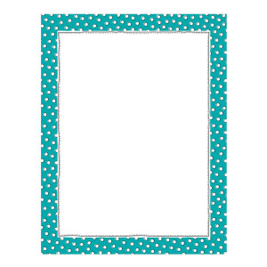 Doodle Dots on Teal Blank Poster