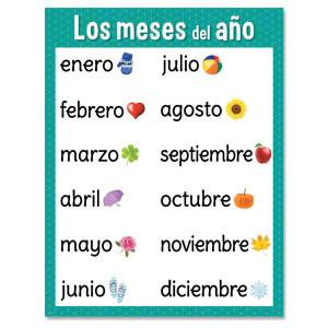 Los meses del ano - Months of Year Spanish Poster