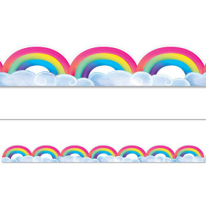 Mystical Magical Rainbows & Clouds Border