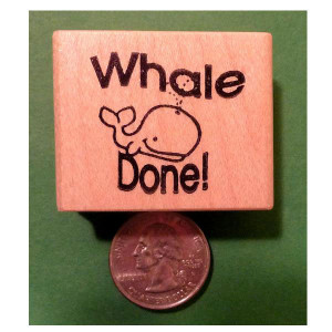 Whale Done Stamp