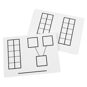 Write-and-Wipe Ten Frame Mats
