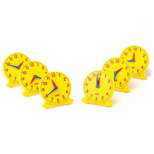 12 Hour Student Clocks, Set of 6
