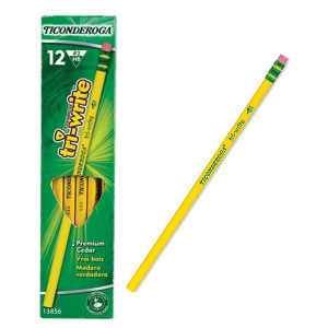 Ticonderoga Tri-Write Triangle Pencils-12 Pack