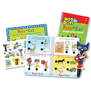 Hot Dots Jr Pete the Cat Kindergarten Rocks! Set