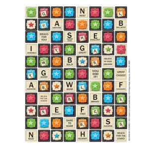 Scrabble Incentive Stickers