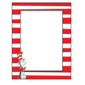Dr Seuss Cat in the Hat Computer Paper