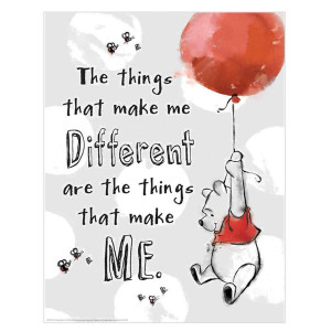 Winnie the Pooh Things Make Me Different Poster