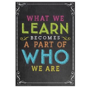 What We Learn...Who We Are Poster