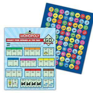Monopoly Mini Incentive Charts