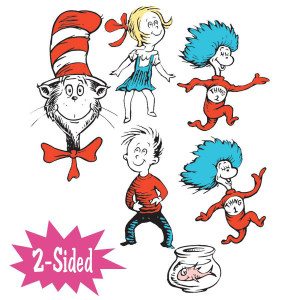 Dr Seuss Giant Characters 2-Sided Decoration
