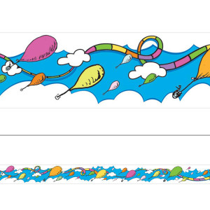 Dr Seuss Oh the Places You'll Go! Balloons Border