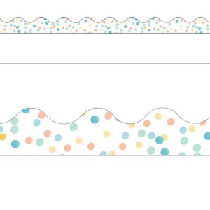 Confetti Splash Dots Border