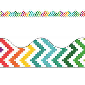 Sharp Bunch Aztec Scalloped Border