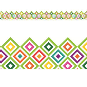 Sharp Bunch Diamond Pattern Extra Wide Border