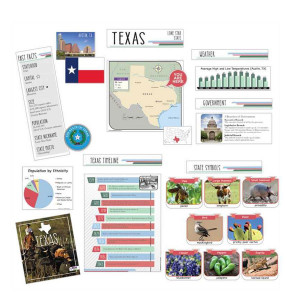 Texas State Bulletin Board Set w/ Capstone Book