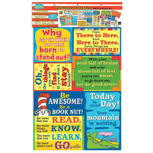 Dr Seuss 35 Quotes Bulletin Board Set
