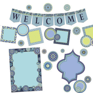 Blue Harmony Welcome Bulletin Board