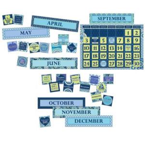 Blue Harmony Calendar Bulletin Board