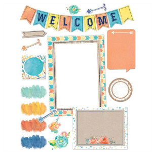 Confetti Splash Welcome Bulletin Board