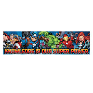 Marvel Knowledge is Our Super Power Banner