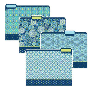 Blue Harmony File Folders