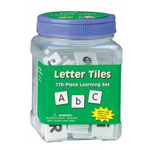 Letter Tiles in a Jar