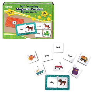 Self-Correcting Magnetic Puzzles-Picture Words