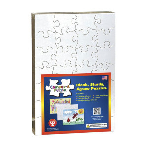 """Blank 28 Piece Puzzles (8"""" x 5.5"""") - 12 Pack"""