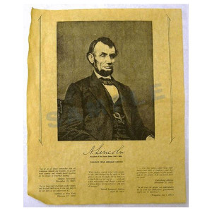 Abraham Lincoln Portrait Poster in Tube