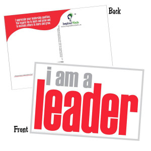 I Am a Leader Postcard