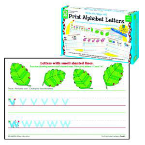 Print Alphabet Letters Write-On/Wipe-Off Cards