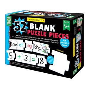 52 Blank Puzzle Pieces