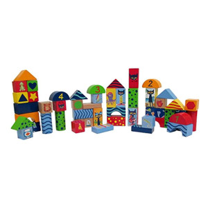 Pete The Cat Wood Stacking Blocks