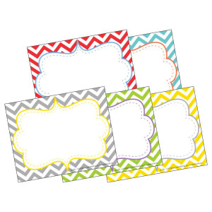 Beautiful Colors Chevron Nametags